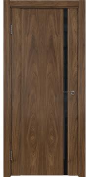 Межкомнатная дверь GM015 (шпон американский орех / триплекс черный) — 5820
