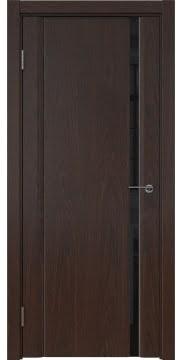 Межкомнатная дверь GM015 (шпон дуб коньяк / триплекс черный) — 5542