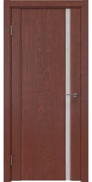 Межкомнатная дверь, GM015 (шпон красное дерево, триплекс белый)