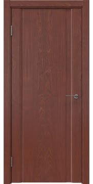 Межкомнатная дверь, GM015 (шпон красное дерево, глухая)