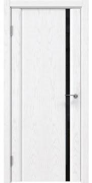 Межкомнатная дверь GM015 (шпон ясень белый / триплекс черный) — 5548