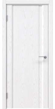 Межкомнатная дверь, GM015 (шпон белый ясень, глухая)