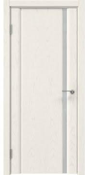 Межкомнатная дверь GM015 (шпон ясень слоновая кость / триплекс белый) — 5550