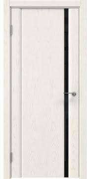 Межкомнатная дверь GM015 (шпон ясень слоновая кость / триплекс черный) — 5551