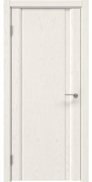 Межкомнатная дверь GM015 (шпон ясень слоновая кость, глухая) — 5549