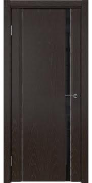 Межкомнатная дверь GM015 (шпон ясень темный / триплекс черный) — 5554
