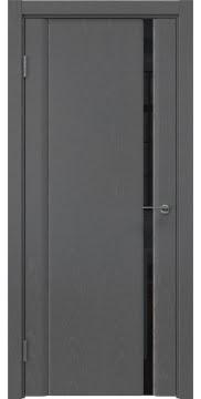 Межкомнатная дверь GM015 (шпон ясень серый / триплекс черный) — 5557