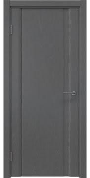Межкомнатная дверь, GM015 (шпон ясень серый, глухая)