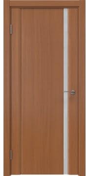 Межкомнатная дверь, GM015 (шпон анегри, триплекс белый)