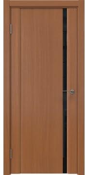 Межкомнатная дверь GM015 (шпон анегри / триплекс черный) — 5560
