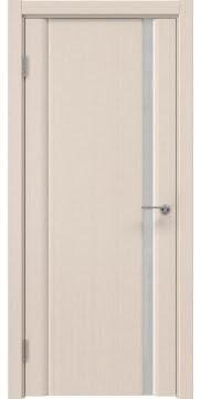 Межкомнатная дверь в стиле модерн GM015 (шпон беленый дуб, триплекс белый)