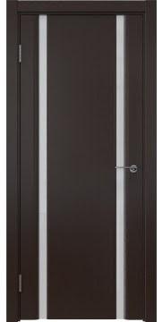 Межкомнатная дверь, GM016 (шпон венге, триплекс белый)