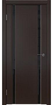 Межкомнатная дверь GM016 (шпон венге / триплекс черный) — 5596