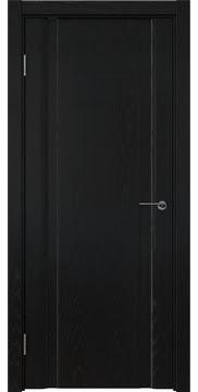 Межкомнатная дверь, GM016 (шпон ясень черный, глухая)