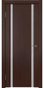 Межкомнатная дверь GM016 (шпон итальянский орех / триплекс белый) — 5831