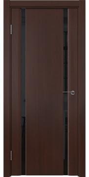 Межкомнатная дверь GM016 (шпон итальянский орех / триплекс черный) — 5832