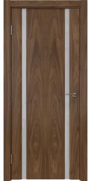 Межкомнатная дверь GM016 (шпон американский орех / триплекс белый) — 5828