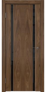 Межкомнатная дверь GM016 (шпон американский орех / триплекс черный) — 5829