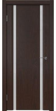 Межкомнатная дверь GM016 (шпон дуб коньяк / триплекс белый) — 5571