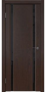 Дверь GM016 (шпон дуб коньяк, триплекс черный)