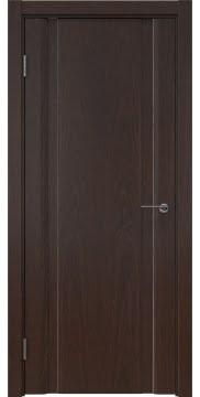 Межкомнатная дверь, GM016 (шпон дуб коньяк, глухая)