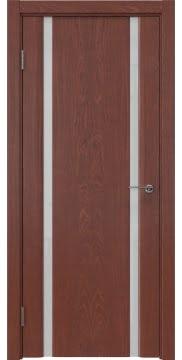 Межкомнатная дверь, GM016 (шпон красное дерево, триплекс белый)