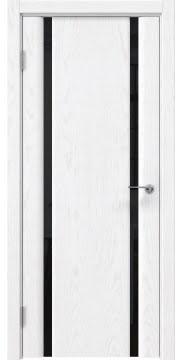 Межкомнатная дверь GM016 (шпон ясень белый / триплекс черный) — 5578