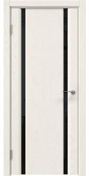 Межкомнатная дверь GM016 (шпон ясень слоновая кость / триплекс черный) — 5581