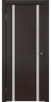 Межкомнатная дверь GM016 (шпон ясень темный / триплекс белый) — 5583