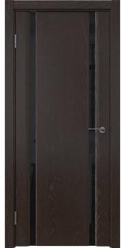 Межкомнатная дверь GM016 (шпон ясень темный / триплекс черный) — 5584