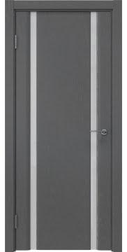 Межкомнатная дверь GM016 (шпон ясень серый / триплекс белый) — 5586