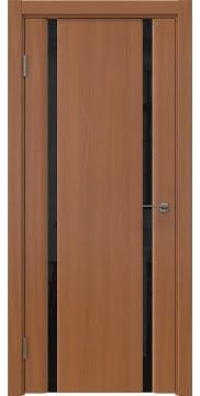 Межкомнатная дверь GM016 (шпон анегри / триплекс черный) — 5590