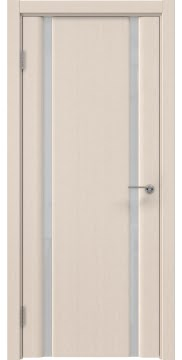 Межкомнатная дверь, GM016 (шпон беленый дуб, триплекс белый)