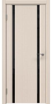 Межкомнатная дверь GM016 (шпон беленый дуб / триплекс черный) — 5593