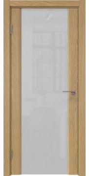 Межкомнатная дверь GM017 (натуральный шпон дуба / триплекс белый) — 5597