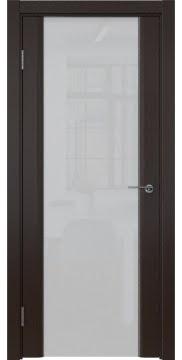 Межкомнатная дверь, GM017 (шпон венге, триплекс белый)