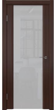 Межкомнатная дверь, GM017 (шпон итальянский орех, триплекс белый)