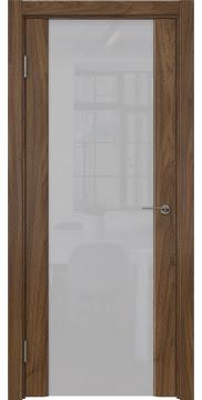 Межкомнатная дверь GM017 (шпон американский орех / триплекс белый) — 5836