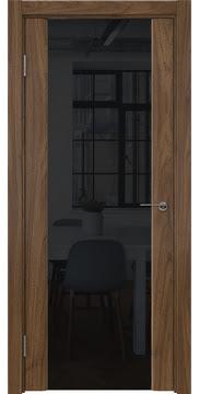 Межкомнатная дверь GM017 (шпон американский орех / триплекс черный) — 5837