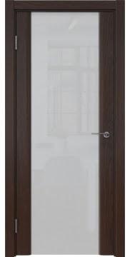 Межкомнатная дверь GM017 (шпон дуб коньяк / триплекс белый) — 5599