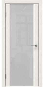 Межкомнатная дверь GM017 (шпон ясень слоновая кость / триплекс белый) — 5605