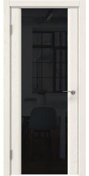 Межкомнатная дверь GM017 (шпон ясень слоновая кость / триплекс черный) — 5606