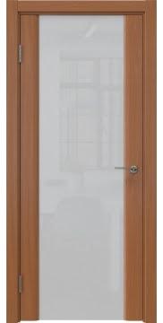 Межкомнатная дверь GM017 (шпон анегри / триплекс белый) — 5611