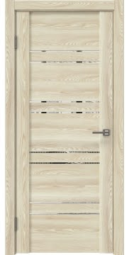 Межкомнатная дверь GM018 (экошпон «клен экрю» / зеркало) — 0352