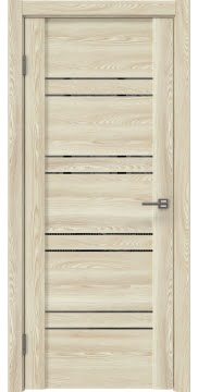 Межкомнатная дверь, GM018 (экошпон клен экрю, зеркало тонированное)