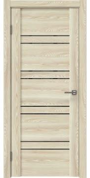 Межкомнатная дверь GM018 (экошпон «клен экрю» / лакобель черный) — 0355