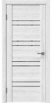 Межкомнатная дверь, GM018 (экошпон ясень айс, зеркало тонированное)