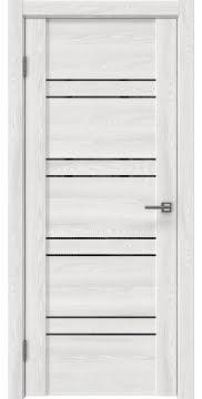 Межкомнатная дверь, GM018 (экошпон ясень айс, лакобель черный)