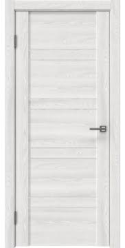 Межкомнатная дверь, GM018 (экошпон ясень айс, лакобель белый)