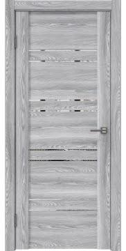 Межкомнатная дверь, GM018 (экошпон ясень грей, зеркало)